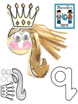 Letter of the week-Letter Q-Art Activity Templates- Q-Quilt, q-queen Art