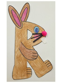 Letter R Art Activity Template- R is for Rabbit Art activity