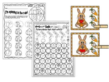 Letter of the week- Letter R Literacy Center Activities for kindergarten
