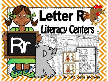 Letter of the week- Letter R Literacy Center Activities for kindergarten