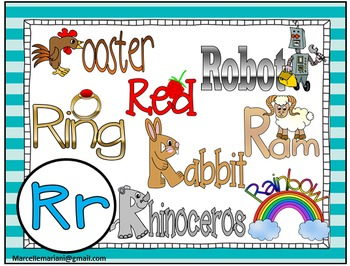 Letter of the week- Letter R- NARRATIVE (TALKING) Power Point Presentation
