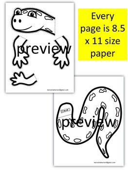 Letter of the week-Letter S-Art Activity Template- S is for Salamander