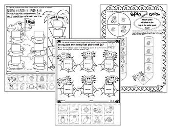 Letter of the week- Letter S Literacy Center Activities for kindergarten