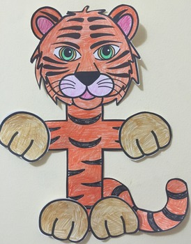 Letter T Art Activity Template- T is for Tiger Art Activity