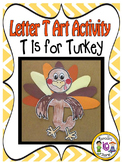 Letter T-Art Activity Templates- T is for Turkey art activity