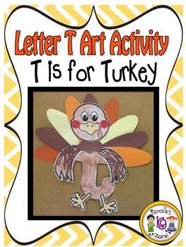 Letter T-Art Activity Templates- T is for Turkey art activity