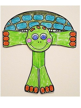 Letter of the week-Letter T-Art Activity Templates- T is for Turtle (craft)