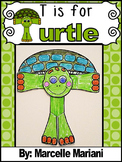 Letter T Art Activity Template- T is for Turtle (craft)