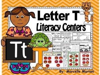 Letter of the week- Letter T Literacy Center Activities for kindergarten