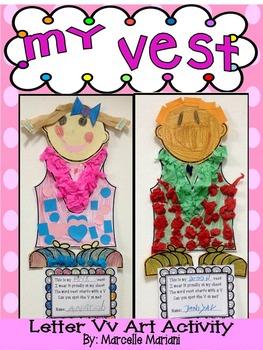 Letter of the week-Letter V-Art Activity Templates- A letter V Craftivity