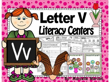 Letter of the week- Letter V Literacy Center Activities for kindergarten