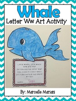 Letter W-Art Activity Template-W is for Whale art activity