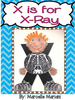Letter X-Art Activity Template- X is for X-Ray art activity