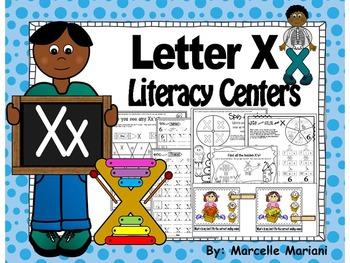 Letter of the week- Letter X Literacy Center Activities for kindergarten