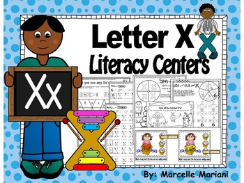 Letter of the week- Letter X Literacy Center Activities fo