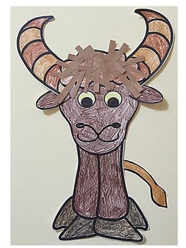 Letter Y Art Activity Template- Y is for Yak Art Activity