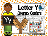 Letter of the week- Letter Y Literacy Center Activities for kindergarten