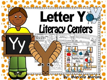 Letter of the week- Letter Y Literacy Center Activities fo