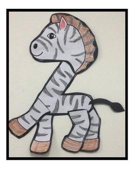 Letter Z-Art Activity Template- Z is for Zebra Art