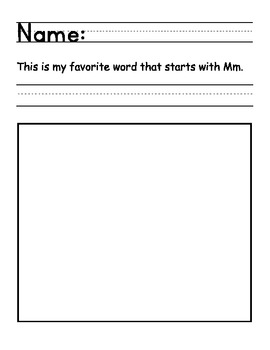 Letter of the week Mm