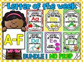 ALPHABET WORKSHEETS-LETTER OF THE WEEK WORKSHEETS-BUNDLE 1 (A-F)