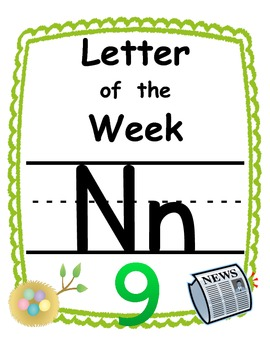 Letter of the week Nn