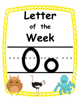 Letter of the week Oo