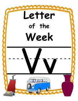 Letter of the week Vv