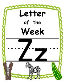 Letter of the week Zz