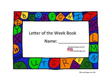 Letter of the week alphabet tracing
