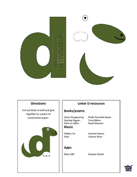 Letter of the week letter D