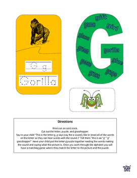 Letter of the week letter G