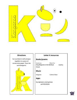 Letter of the week letter K