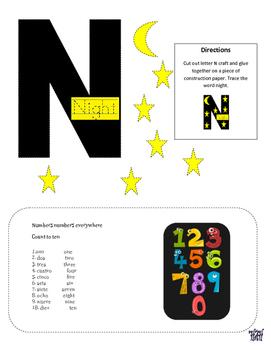 Letter of the week letter N