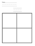 Letter of the week template (number, shape, color of the week)