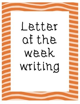 Letter of the week writing