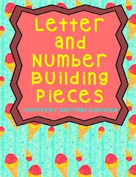 Letter or Number Building Pieces, Used for Centers or Interventions