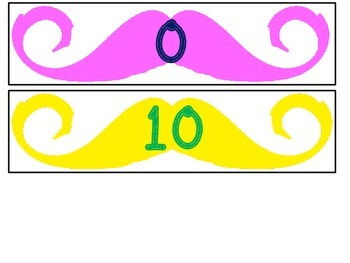 Mustache Letter or Number Game