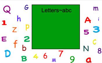 Letter or Number? Smartboard Activity