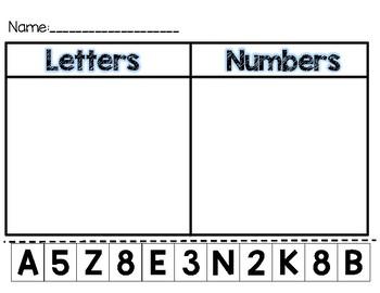 Letter or Number Sort