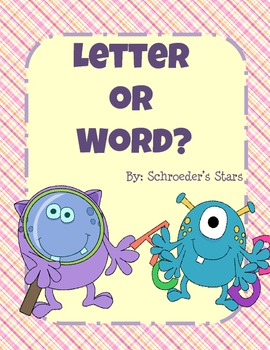 Letter or Sight Word?