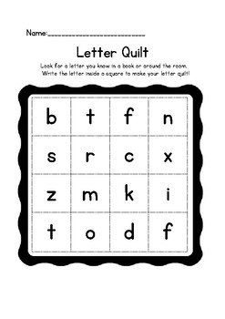 Letter or Word Quilt