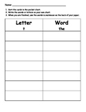 Letter or Word Sort