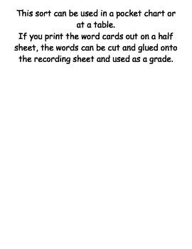 Letter or Word Sort