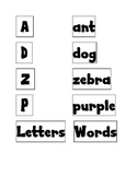 Letter or Word? Sort
