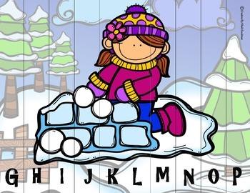 Winter Letter order puzzle - Winter - sampler