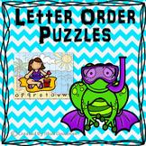Alphabet ABC Order Puzzles - through the year
