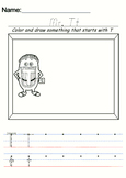 Letter people Alphabet Learning Writing Practice 26 handout sheets