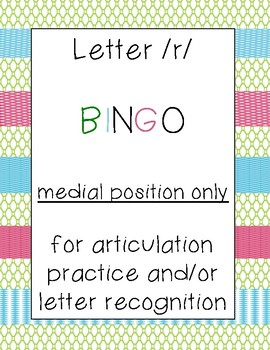 Letter /r/ BINGO (medial position only)