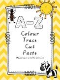 """Letter recognition """"Colour Trace Cut and Paste"""" (A-Z) Auss"""